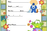 Baby Birth Certificate Printable Free (3rd Funny Design)