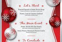 Christmas Menu Flyer Template Free (2nd Professional Design)