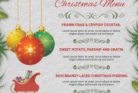 Christmas Menu Flyer Template Free (3rd Professional Design)