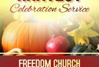 Church Harvest Festival Flyer Template Free (1st Amazing Design)