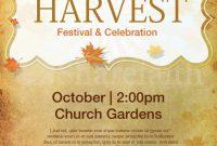 Church Harvest Festival Flyer Template Free (2nd Amazing Design)
