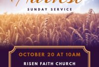Church Harvest Festival Flyer Template Free (3rd Amazing Design)