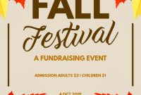 Fall Festival Flyer Template Word Free (1st Best Fundrising Poster Design)