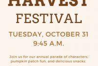 Harvest Festival Flyer Template Free Download (4th Best Format)