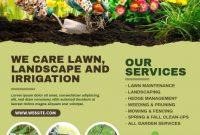 Landscape Flyer Template PSD Format Free (1st Super Green Design)