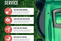 Landscape Flyer Template PSD Format Free (3rd Super Green Design)