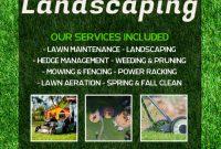 Landscaping Flyer Template Free Design (2nd Fresh Idea)