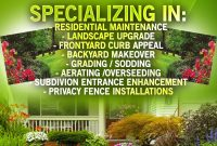 Landscaping Flyer Template Free Design (3rd Fresh Idea)