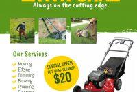 Lawn Care Flyer Template Microsoft Word (1st Design Idea)