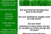 Lawn Care Flyer Template Microsoft Word (2nd Design Idea)