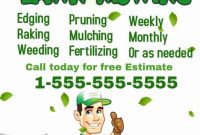 Lawn Care Flyer Template PDF Format Free (1st Remarkable Design)