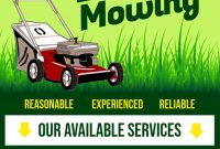 Lawn Care Service Flyer Template Free (2nd Example Design)