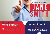 Political Campaign Flyer Template Free (2nd Best Example)