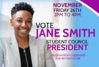School Election Flyer Template Free Download (3rd Best Option)
