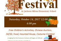 School Fall Festival Flyer Template Free Customizable (4th Best Word Format)