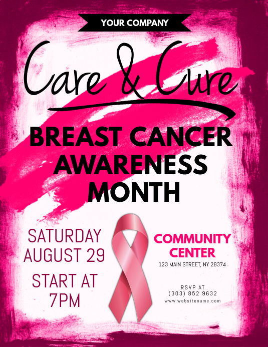 10 Flawless Breast Cancer Awareness Month Flyer Templates Free