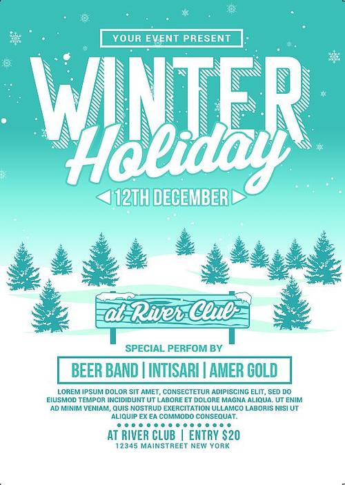 Holiday Flyer Template Free (13+ Refreshing Designs)